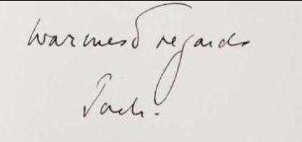 JFK signature