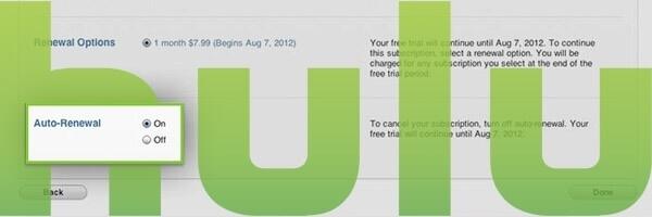 Hulu auto-renew